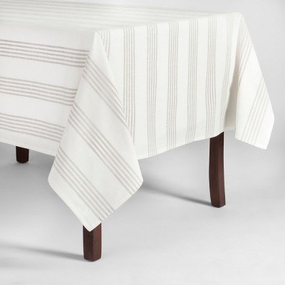 70 x52  Stripe Tablecloth Gray - Threshold™