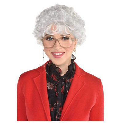 Adult Wig Witty Senior Accessory Halloween Costume