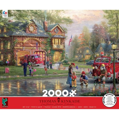 Ceaco Thomas Kinkade: Hometown Firehouse Jigsaw Puzzle - 2000pc