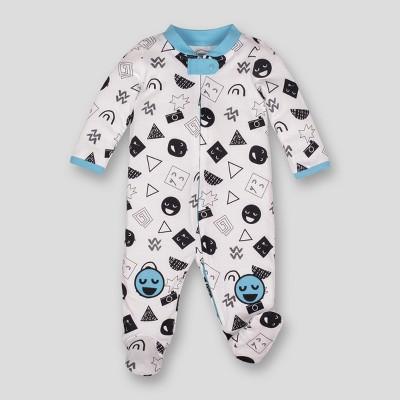 Lamaze Baby Boys' Organic Emojis Print Zip Sleep 'N Play - White Newborn