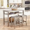Stainless Steel Island Set - Brushed Stainless - Home Styles - image 2 of 2