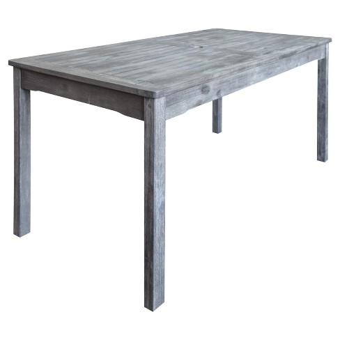 Vifah Patio Furniture.Vifah Renaissance Outdoor Hand Scraped Rectangular Table Gray