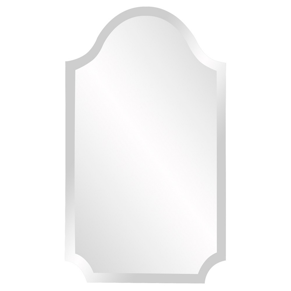 Image of Howard Elliott - Frameless Rectangular Mirror with Arch and Scalloped Corners