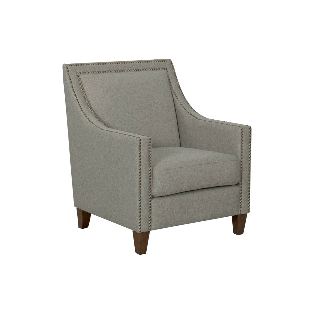 Edwin Arm Chair with Nailheads Light Brown - Homepop was $399.99 now $299.99 (25.0% off)