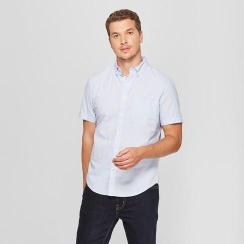 179cbcb4 Men's Short Sleeve Poplin Button-Down Shirt - Goodfellow & Co™ Amparo Blue  : Target