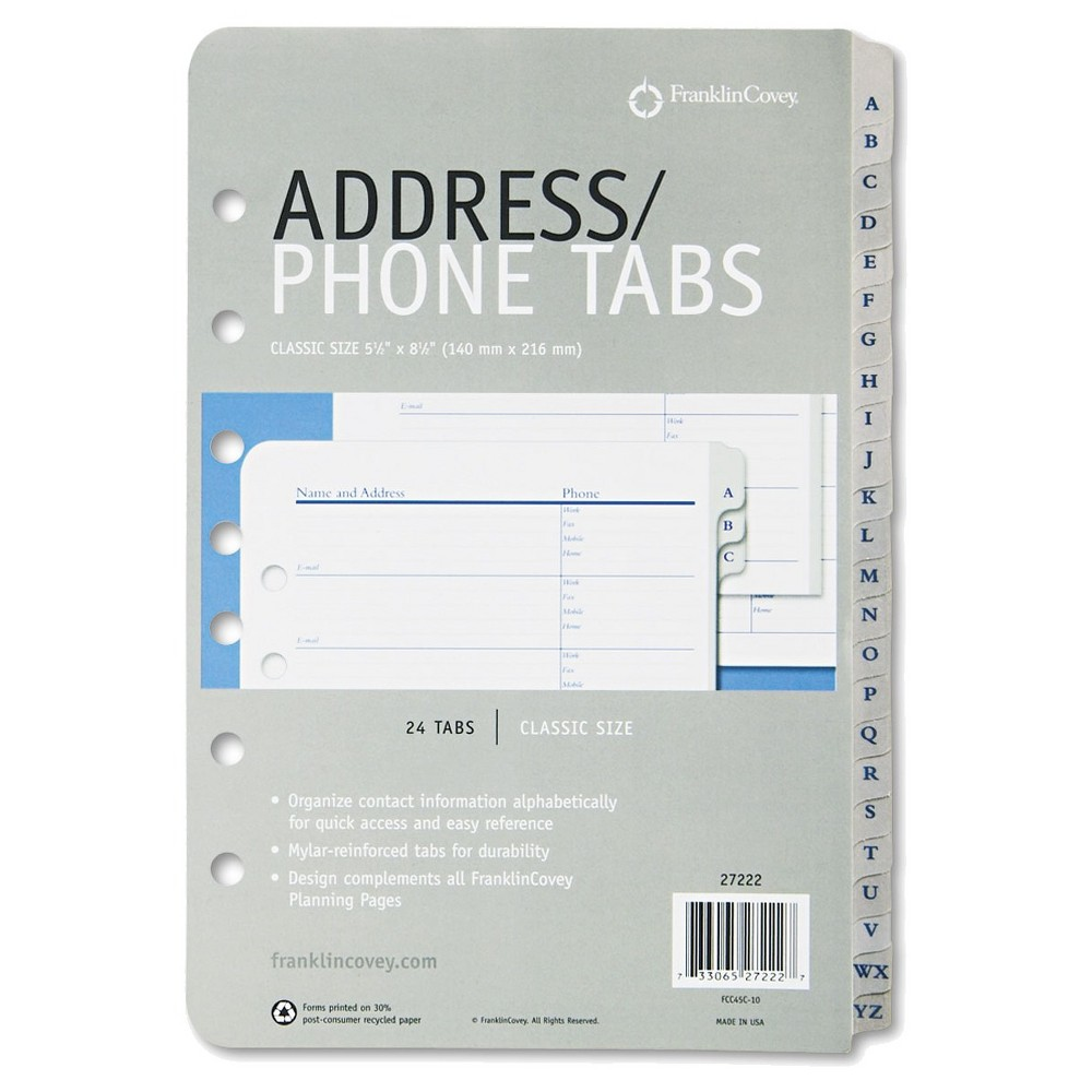address book refill pages filing organization compare prices