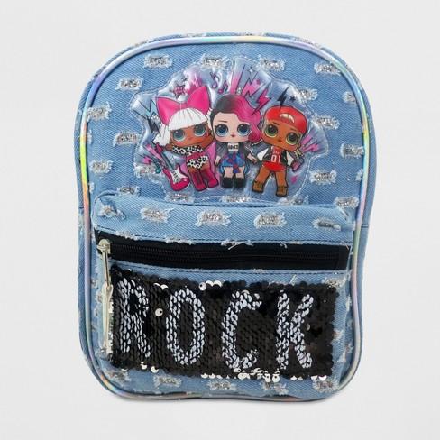 Girls  L.O.L. Surprise! Flip Sequin Backpack - Black Silver   Target e98bc0926da60