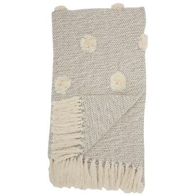 Dot Woven Throw Blanket Gray - Mina Victory