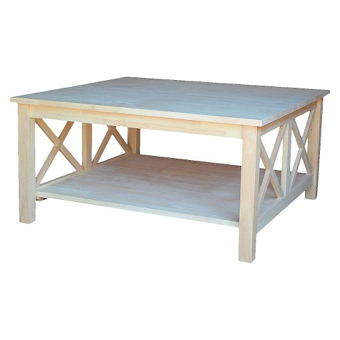 Hampton Square Coffee Table - International Concepts - image 1 of 6