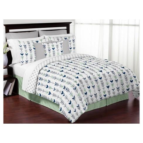 Comforter Sets Queen.Navy Mint Mod Arrow Comforter Set Full Queen Sweet Jojo