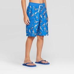 Boys' Shark Print Swim Trunks - Cat & Jack™ Blue