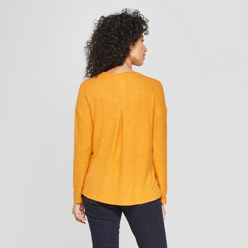 ee037448f Women's Long Sleeve Cozy Knit Top- A New Day™ : Target