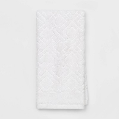 Reserve Solid Textured Hand Towel White Accent - Fieldcrest®