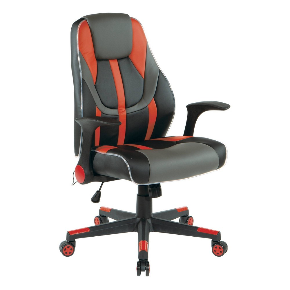 Reviews Output Faux Leather Gaming Chair  - OSP Home Furnishings