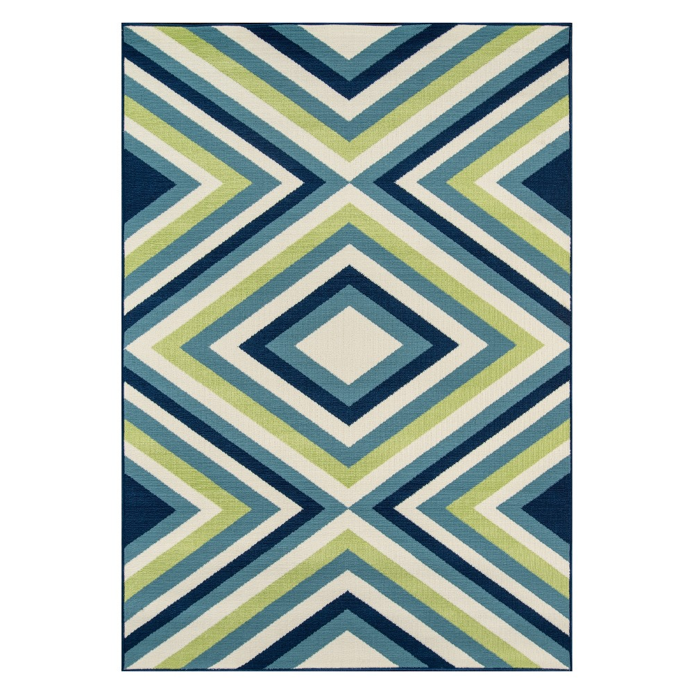 "Image of ""1'8""""X3'7"""" Geometric Loomed Accent Rug - Momeni"""