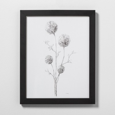 16  X 20  Flowering Branch Wall Art with Black Wood Frame - Hearth & Hand™ with Magnolia