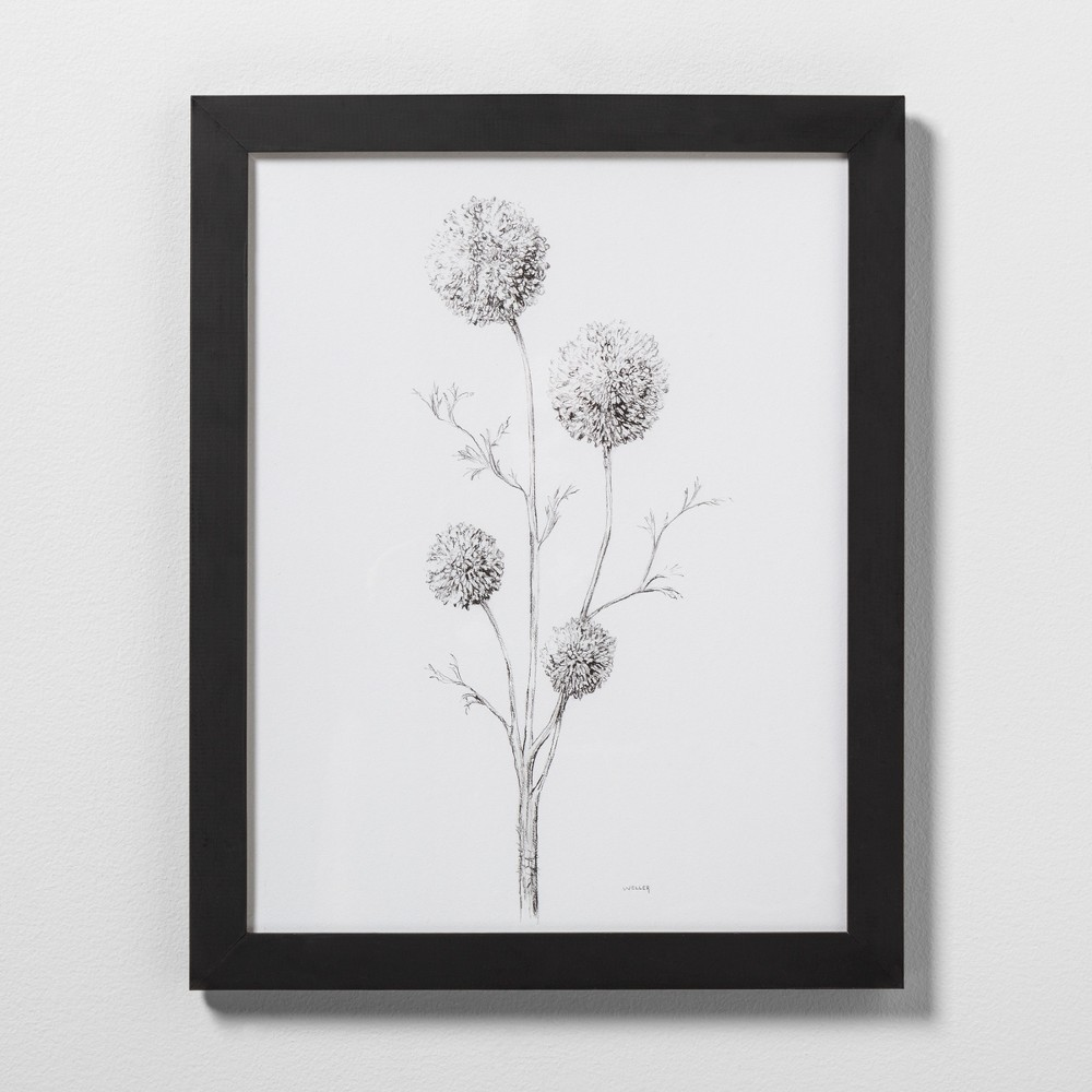 "Image of ""16"""" X 20"""" Flowering Branch Wall Art with Black Wood Frame - Hearth & Hand with Magnolia"""
