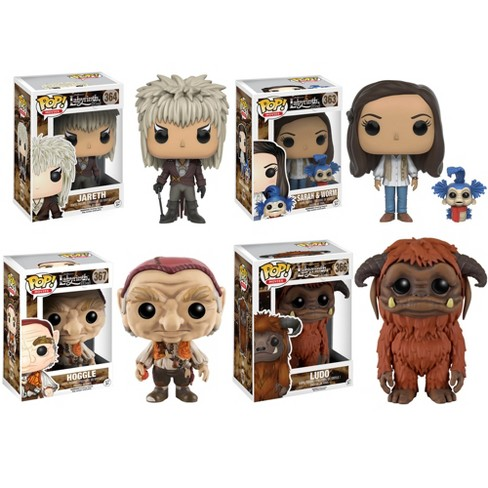 "Funko Labyrinth: POP! Movies Collectors Set; Jareth, Hoggle, Sarah, Ludo Figures 6"" - image 1 of 5"