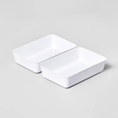2pk Large Storage Trays White - Room Essentials™