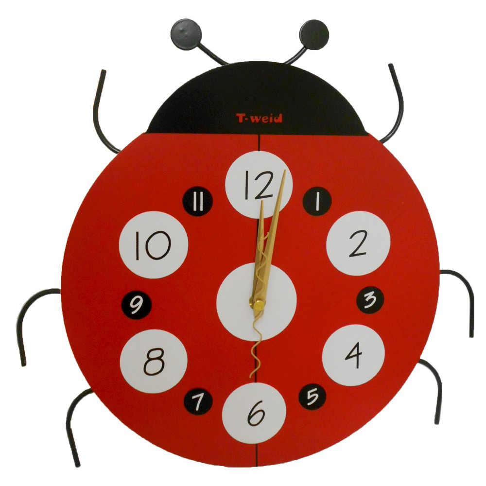 Image of Ladybug Clock Red/Black - Creative Motion Industries