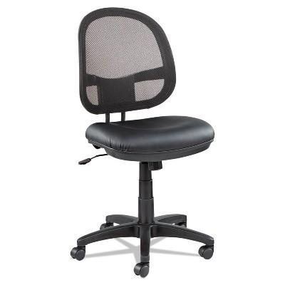 Alera Interval Series Swivel/Tilt Mesh Chair, Black Leather IN4815
