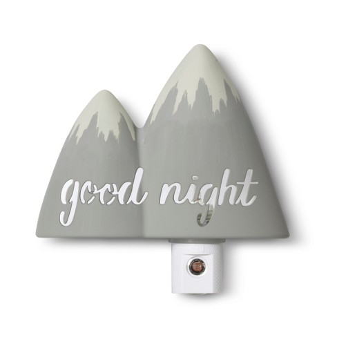 Automatic Nightlight Mountain Cloud Island Gray Target