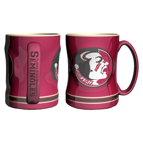 NCAA Florida State Seminoles Boelter Brands 2 Pack Sculpted Relief Style Coffee Mug - Red (15 oz) - image 1 of 1