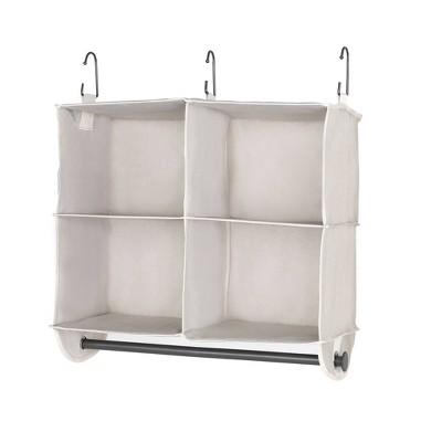 StorageWorks 2+2 Shelves Hanging Closet Organizer Gray