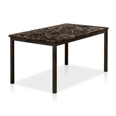"""60"""" LarristonFaux Marble Top Dining Table Black - HOMES: Inside + Out"""