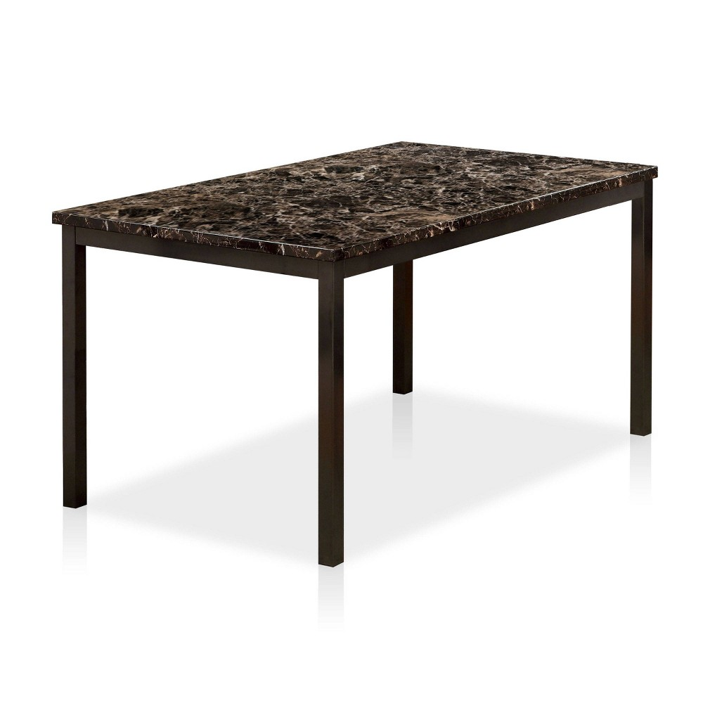 """Image of """"60"""""""" Larriston Faux Marble Top Dining Table Black - ioHOMES"""""""