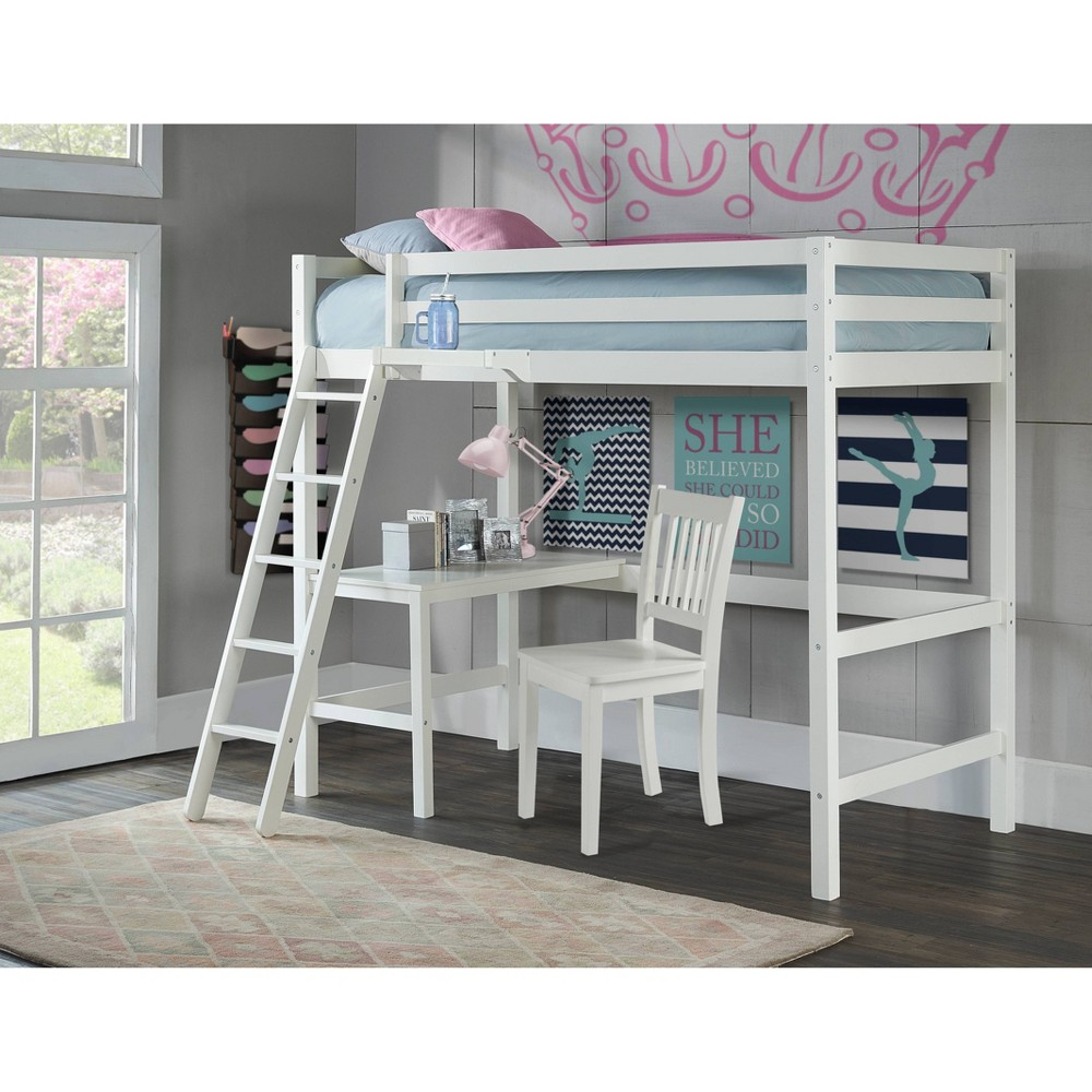 Kids  Caspian Study Loft with Chair and Hanging Nightstand White - Hillsdale Furniture Kids Twin Caspian Study Loft with Chair and Hanging Nightstand White - Hillsdale Furniture Gender: unisex.