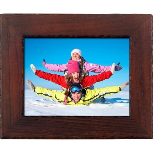 "8"" WiFi Digital Photo Frame Distressed Wood - Polaroid - image 1 of 4"