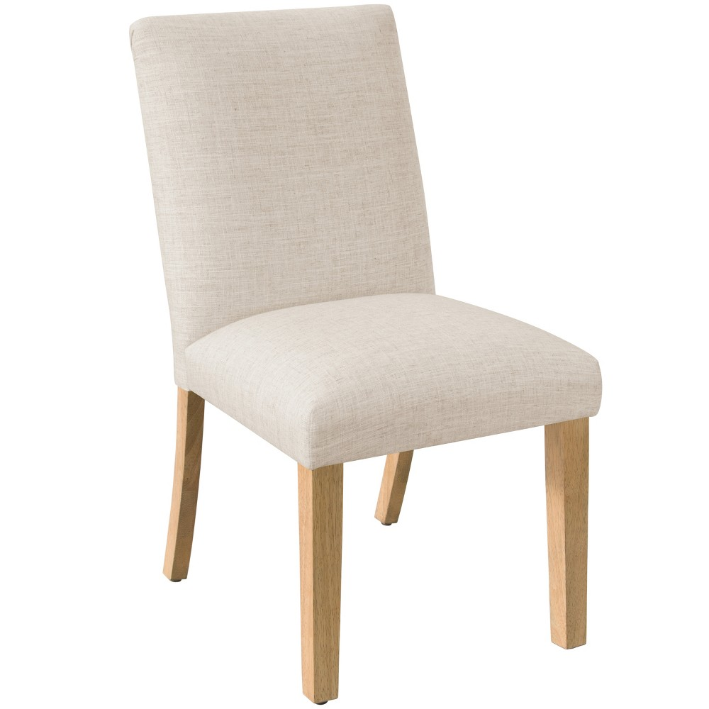 Pleated Dining Chair Linen Talc Skyline Furniture