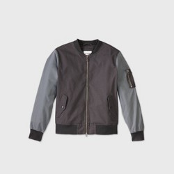 Men's Colorblock Bomber Jacket - Goodfellow & Co™ Gray