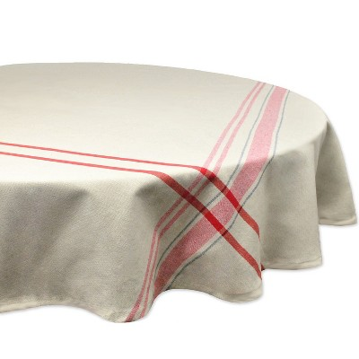 Stripe Red Tablecloth - Design Imports