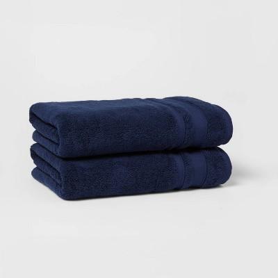 2pk Performance Bath Towel Set Navy - Threshold™