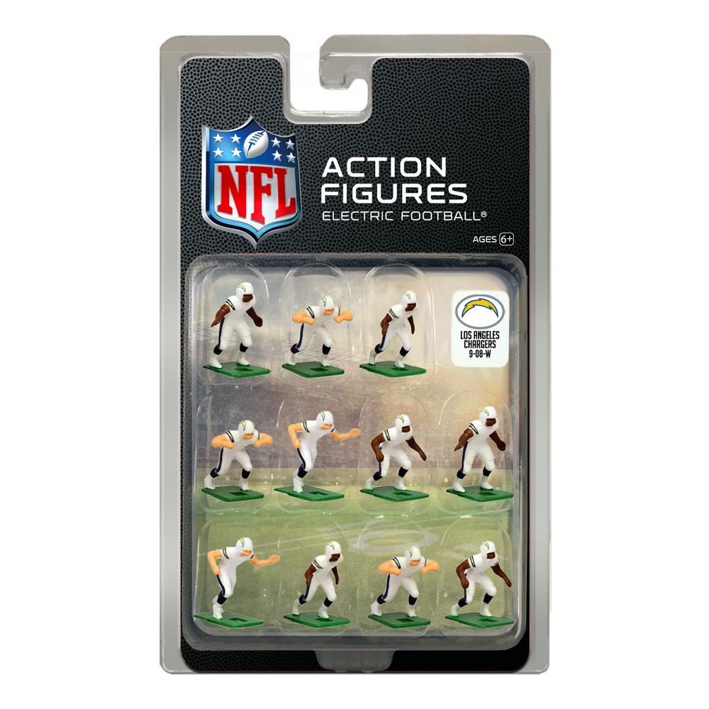 Nfl Los Angeles Chargers Tudor Games Away Uniform Electric Football Action Figure Set