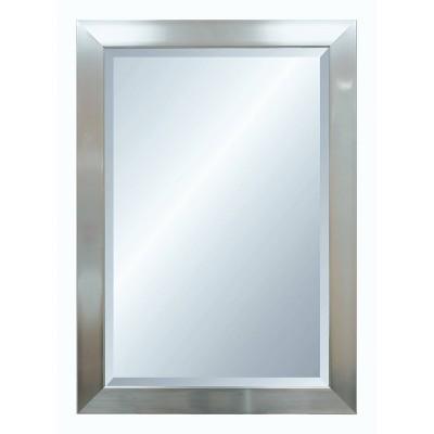 41.25  x 29.25  Premier Silver Framed Beveled Glass Wall Mirror - Alpine Art and Mirror