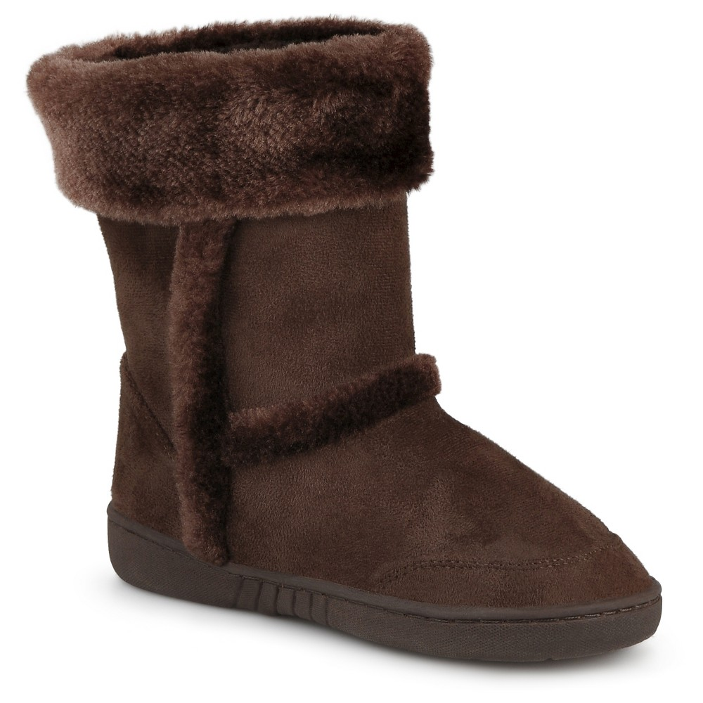 Girls' Journee Collection Chuckie Faux Fur Trim Fashion Boots - Chocolate (Brown) 4
