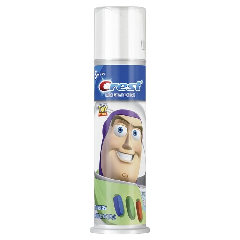 Crest Kids Toothpaste Pump featuring Disney Pixar Toy Story - Strawberry 4.2 oz - image 1 of 4