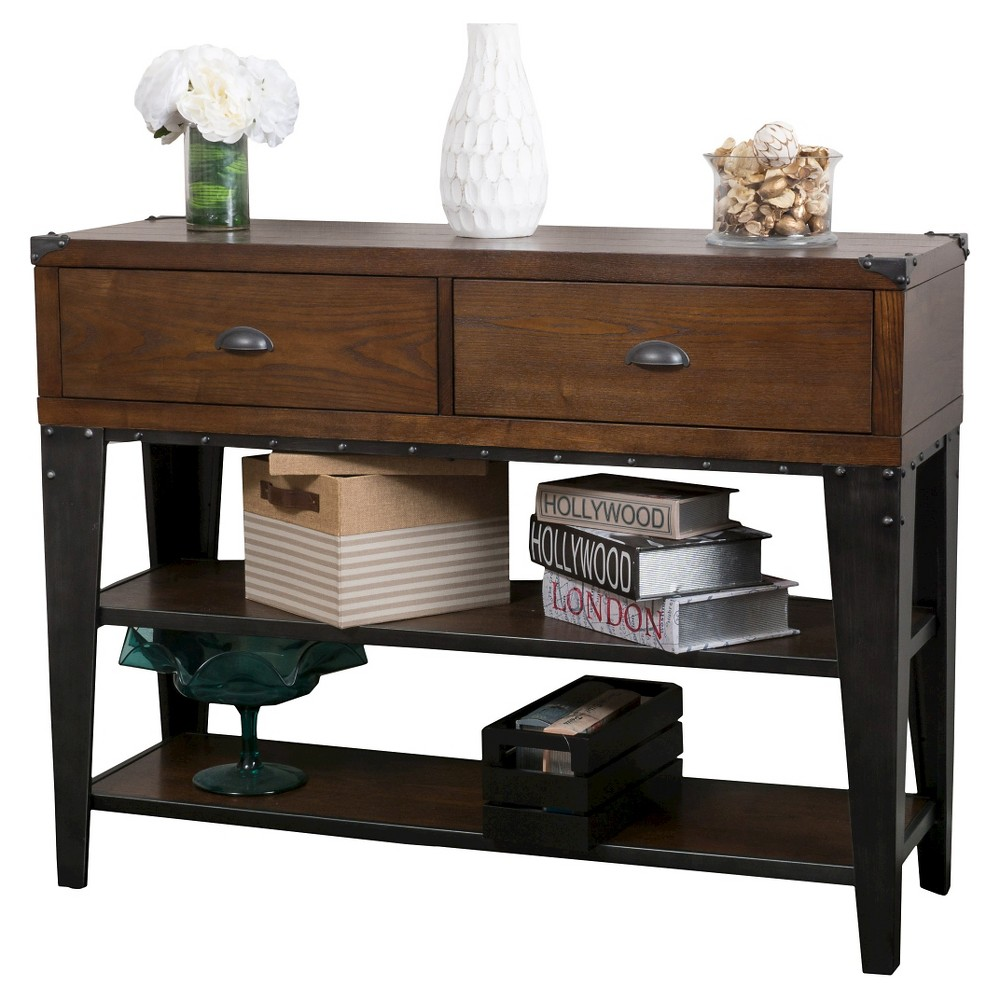 Quinn Console Table Dark Oak - Christopher Knight Home