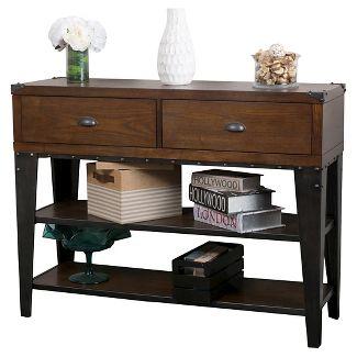 Quinn Console Table Dark Oak - Christopher Knight Home