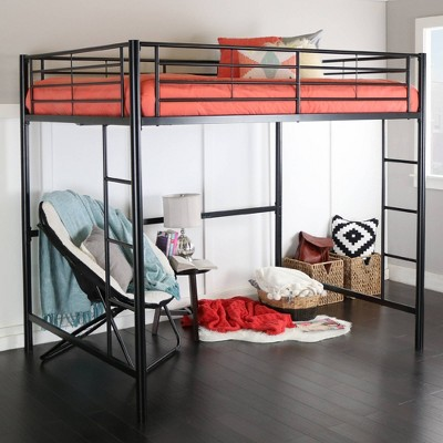 Full Premium Metal Size Loft Bed - Saracina Home