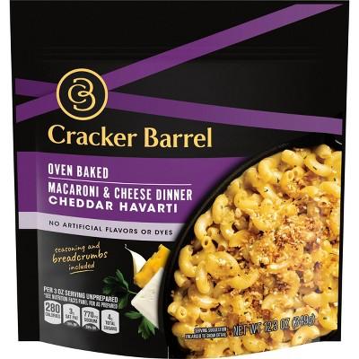 Cracker Barrel Oven Baked Macaroni & Cheese Dinner Cheddar Havarti - 12.3oz