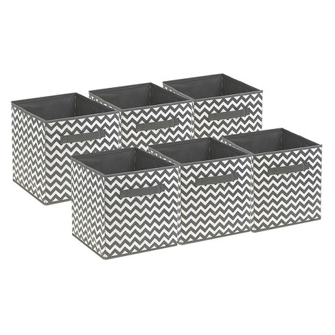 Sorbus Cube Storage Box Gray Graphic - image 1 of 7