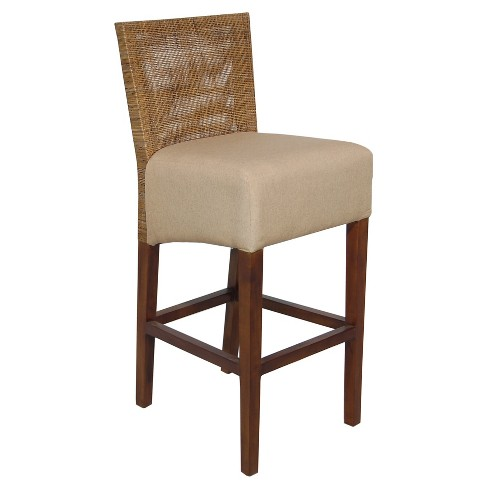 "Karyn 30"" Barstool Wood/Tan - Jeffan - image 1 of 1"