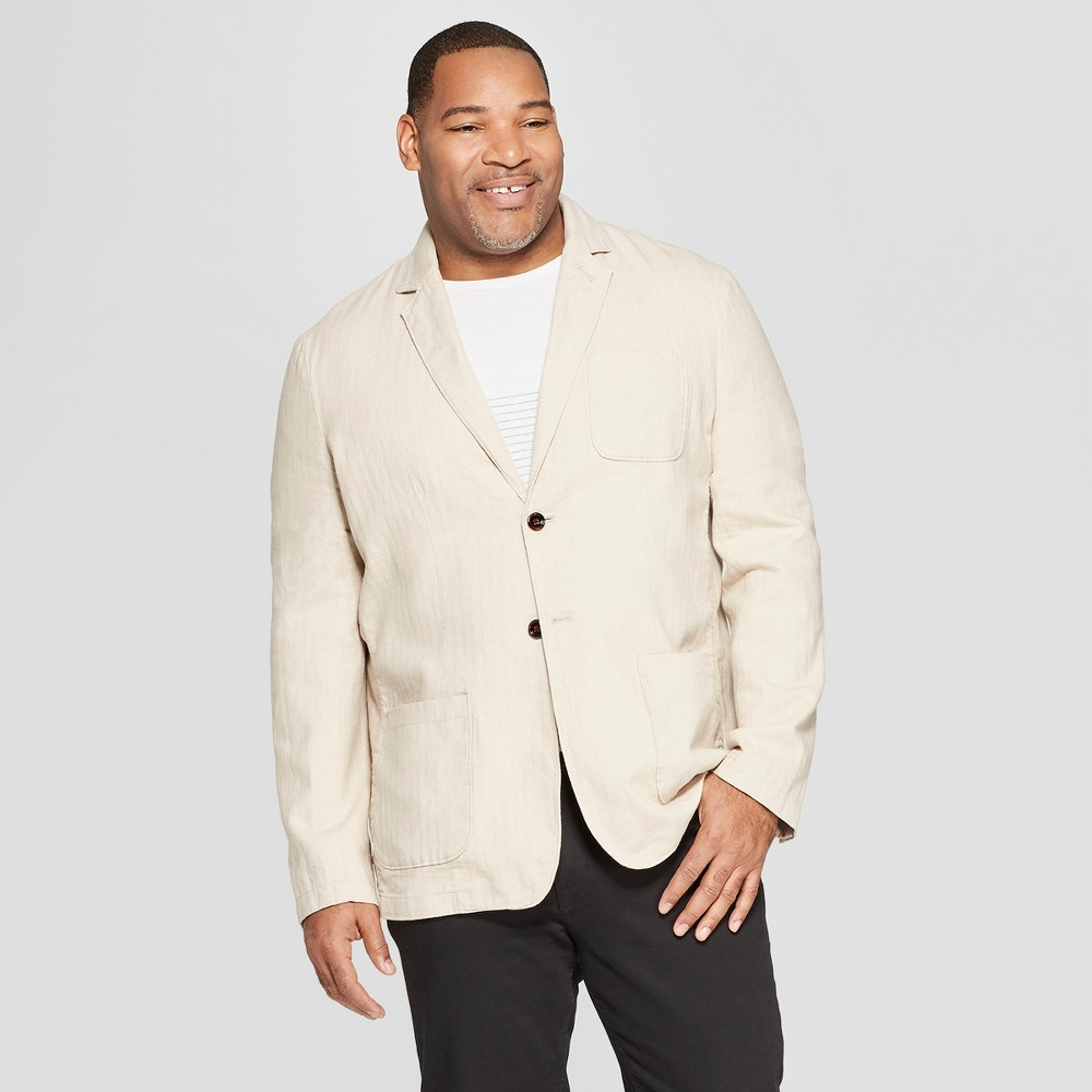 Men's Big & Tall Standard Fit Blazer - Goodfellow & Co Light Taupe 2XBT