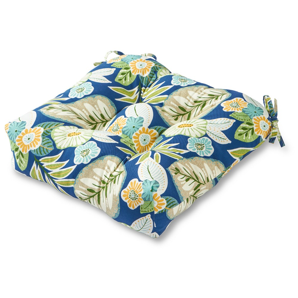 Image of Marlow Floral Outdoor Seat Cushion - Greendale Home Fashions