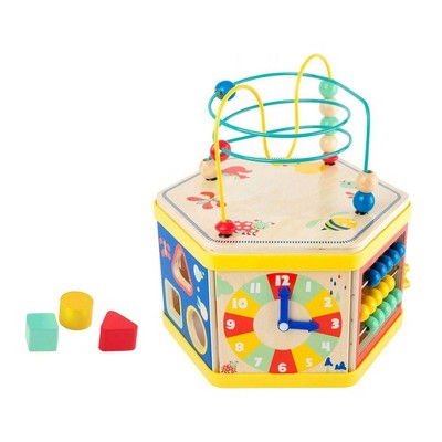 "Small Foot Wooden Toys Activity Center 7 In 1 Iconic Motor Skills ""Move It!"" Playset"