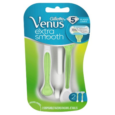 Venus Extra Smooth Green Disposable Women's Razors - 2ct